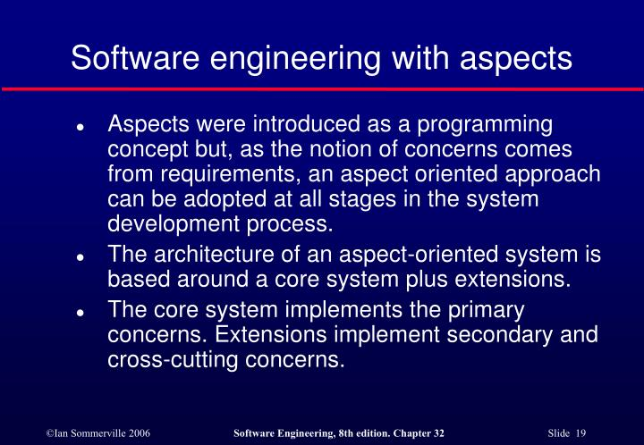 Software engineering with aspects