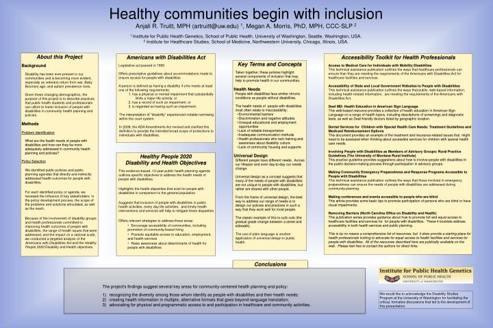 Healthy communities begin with inclusion