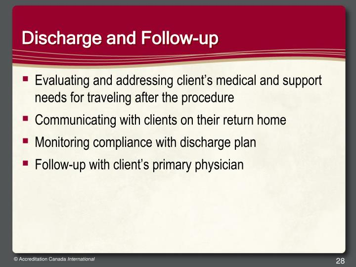 Discharge and Follow-up