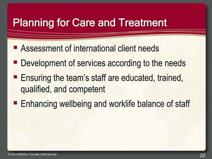 Planning for Care and Treatment
