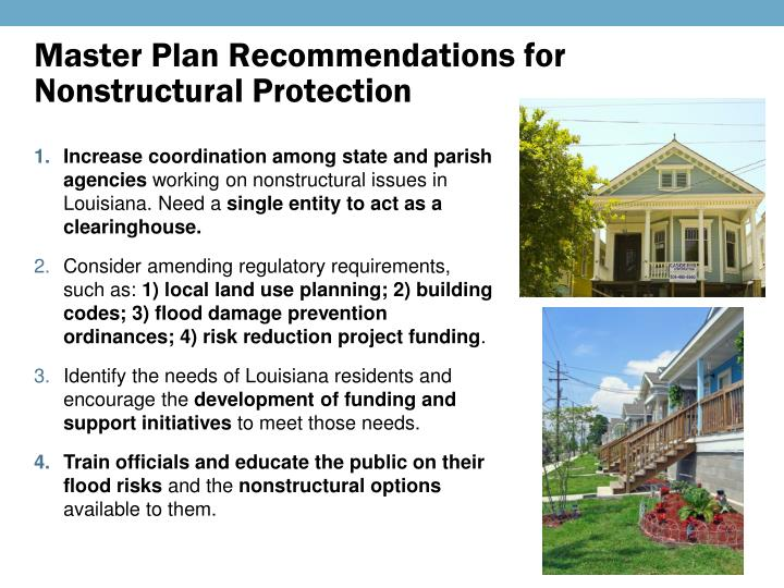 Master Plan Recommendations