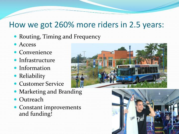 How we got 260% more riders in 2.5 years: