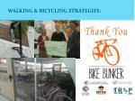 walking bicycling strategies
