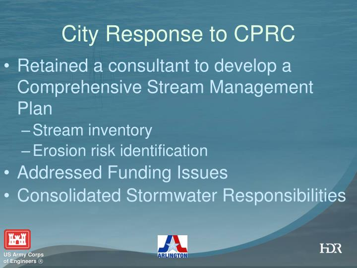 City Response to CPRC