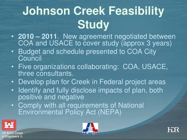 Johnson Creek Feasibility Study