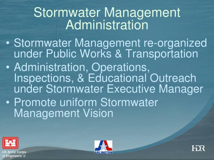 Stormwater Management Administration