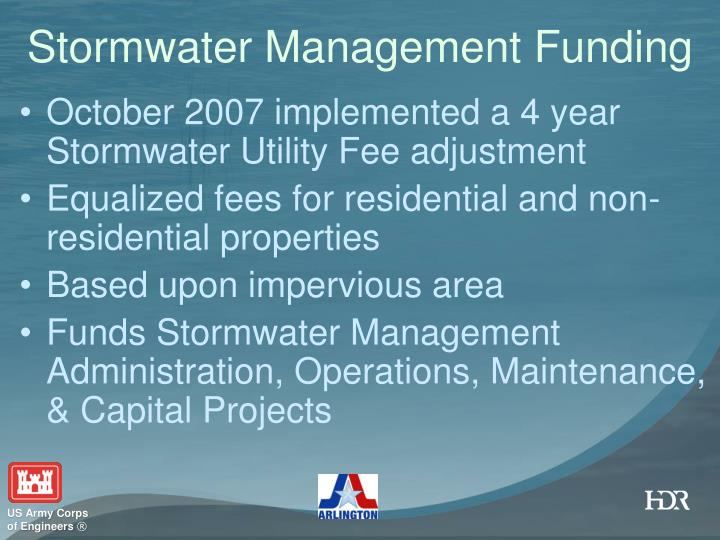 Stormwater Management Funding