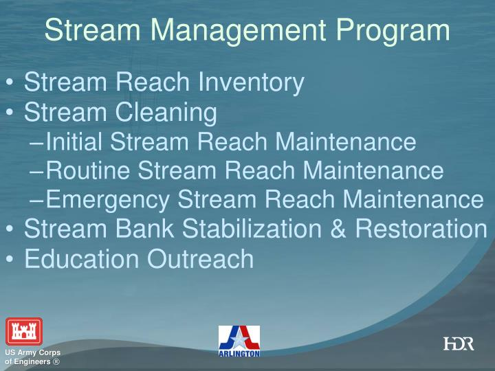 Stream Management Program