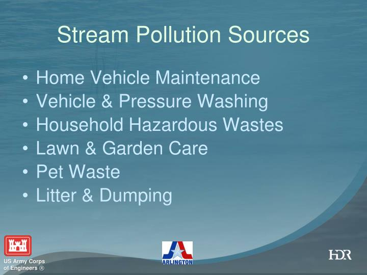 Stream Pollution Sources
