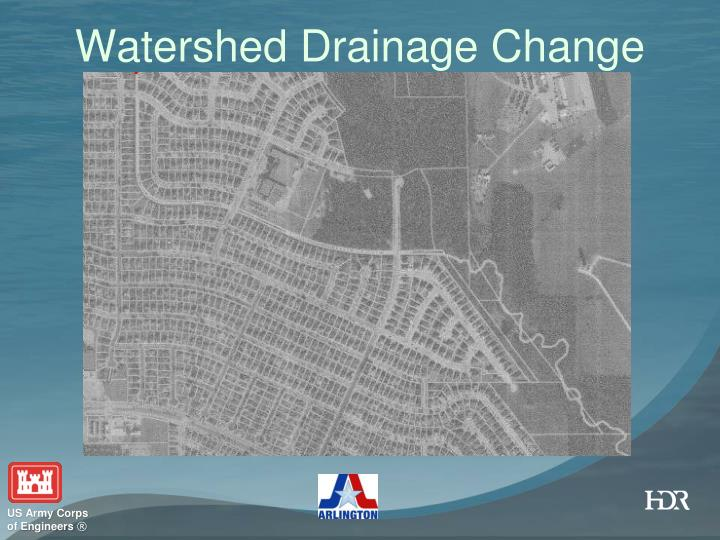 Watershed Drainage Change