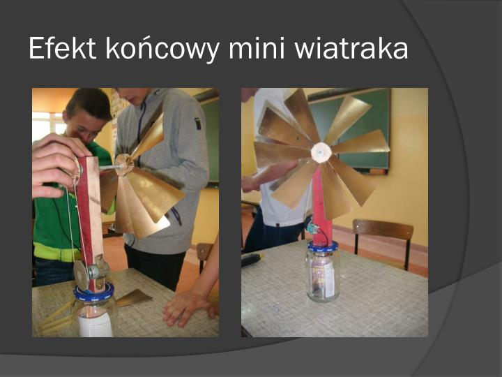 Efekt kocowy mini wiatraka