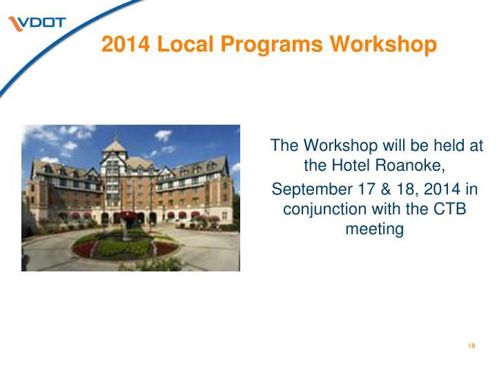 2014 Local Programs Workshop