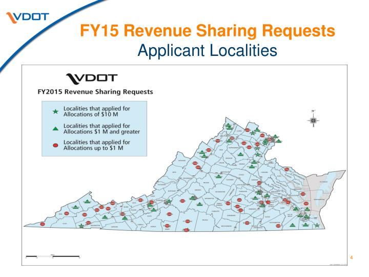 FY15 Revenue Sharing Requests