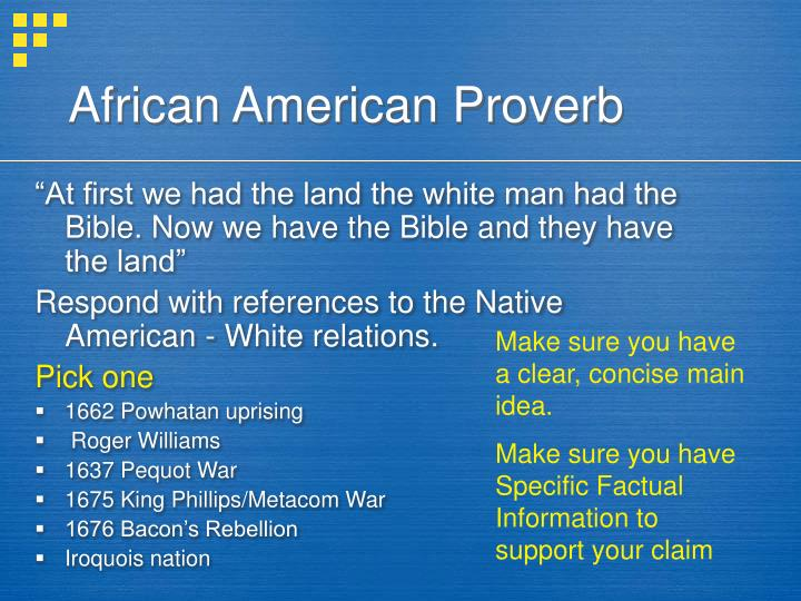 African american proverb
