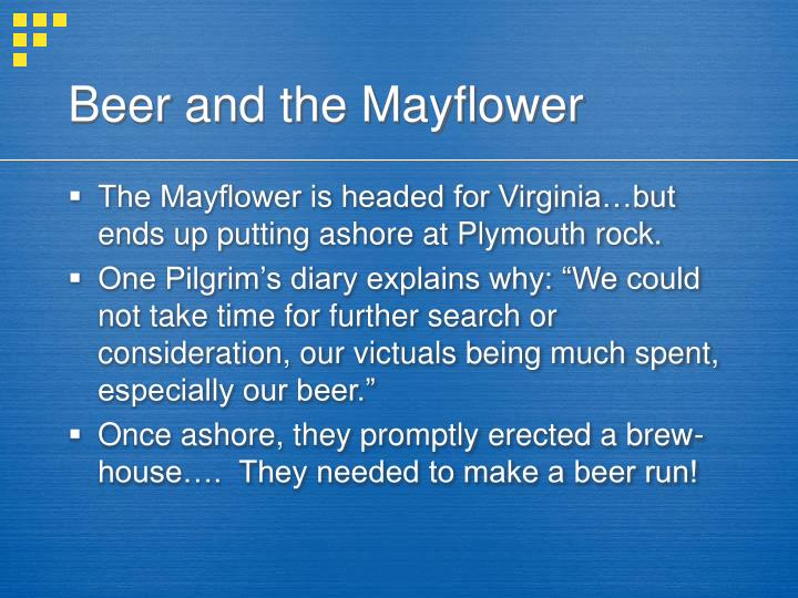 Beer and the Mayflower