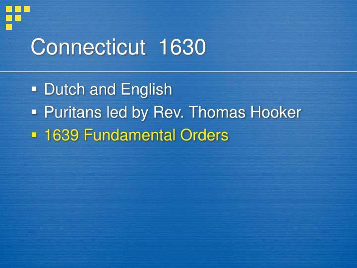 Connecticut  1630
