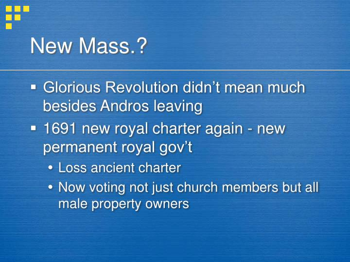New Mass.?