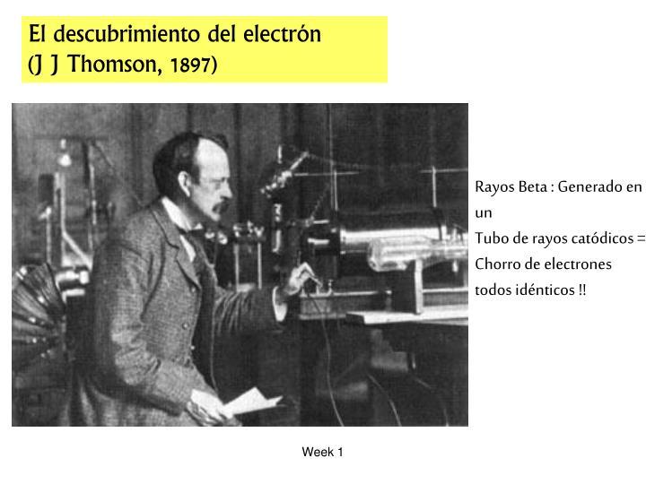 El descubrimiento del electr