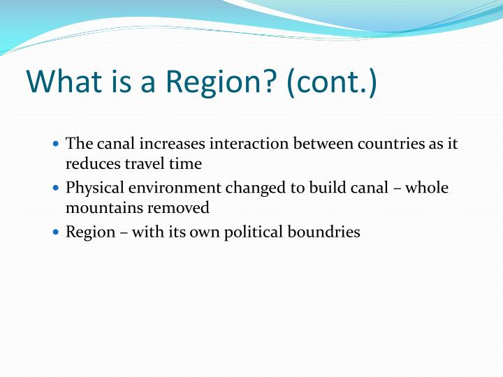 What is a Region? (cont.)