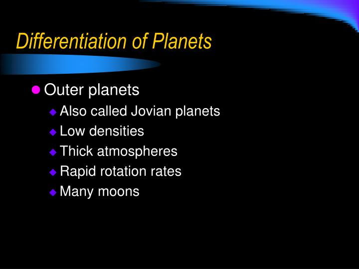 Differentiation of Planets