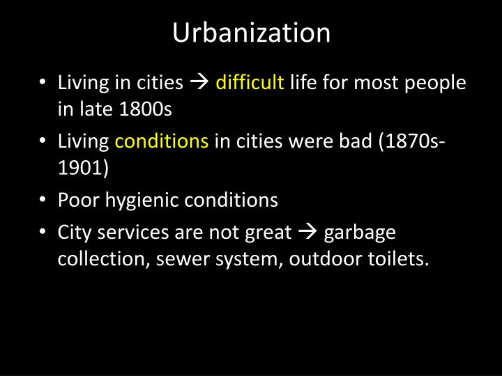 urbanization and industrialization in canada Factors of urbanisation in the nineteenth century developed countries: a descriptive and econometric analysis  this paper describes the situation from the beginning of the industrial revolution when levels of urbanisation  urbanisation in the nineteenth century developed countries countries (ie australia, canada, new zealand and.