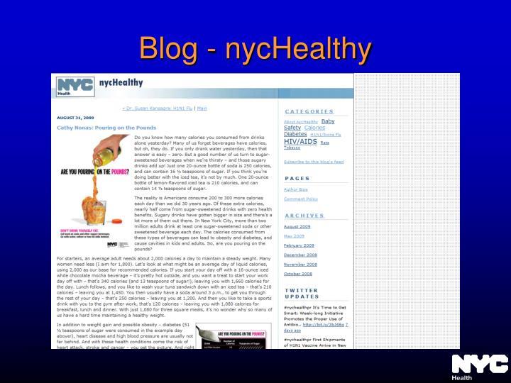 Blog - nycHealthy