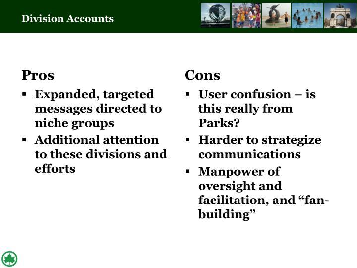 Division Accounts