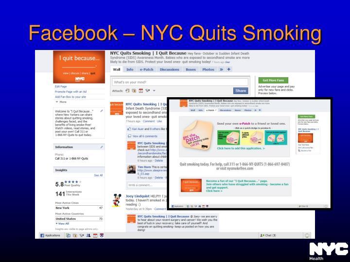 Facebook – NYC Quits Smoking