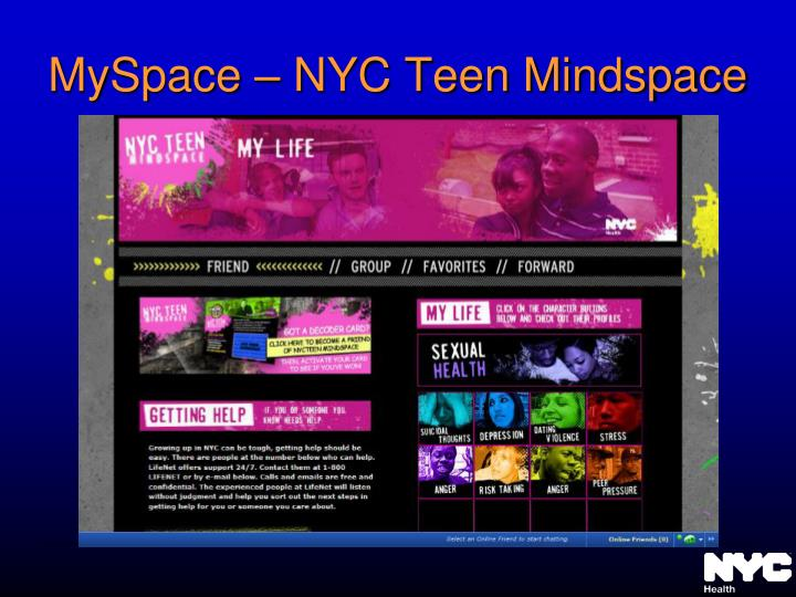 MySpace – NYC Teen Mindspace