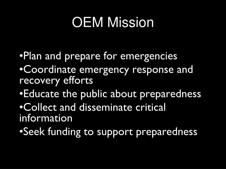OEM Mission