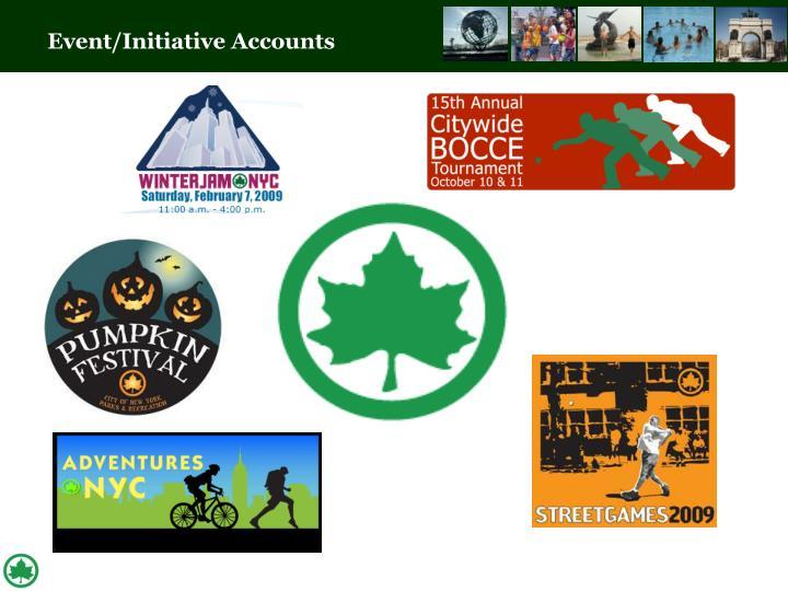 Event/Initiative Accounts