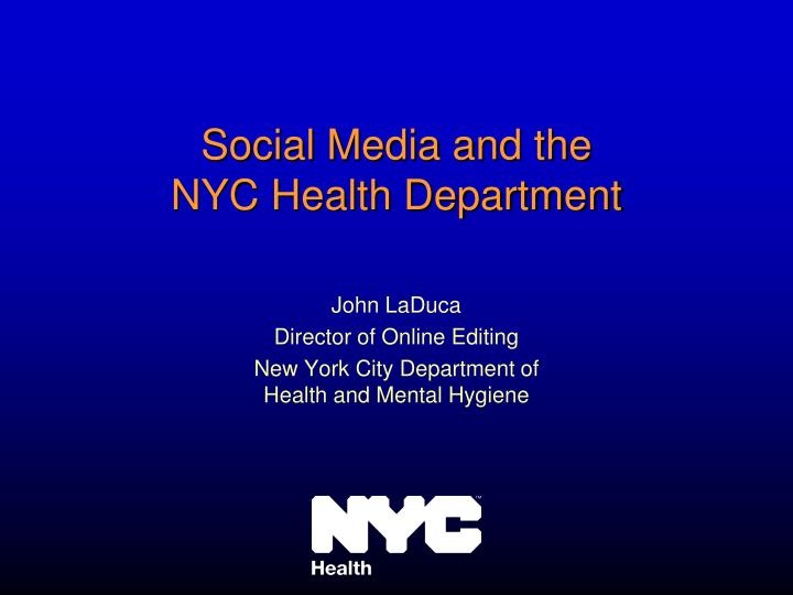 Social Media and the