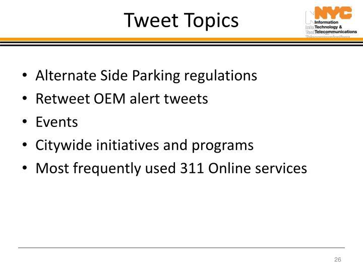 Tweet Topics