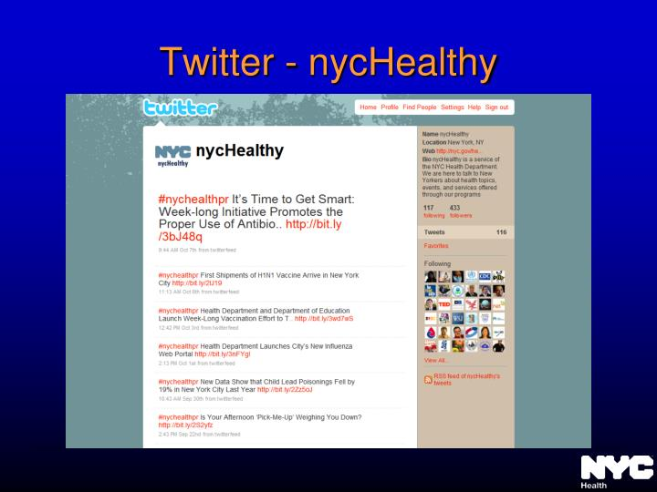 Twitter - nycHealthy