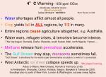 4 c warming 650 ppm co 2 e