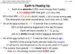 earth is heating up