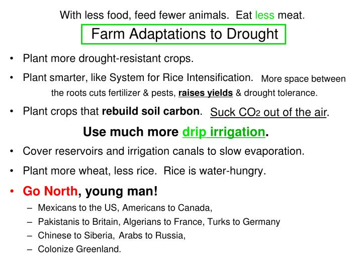 Farm Adaptations to Drought