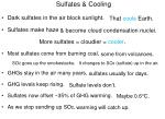 sulfates cooling