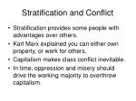 stratification and conflict