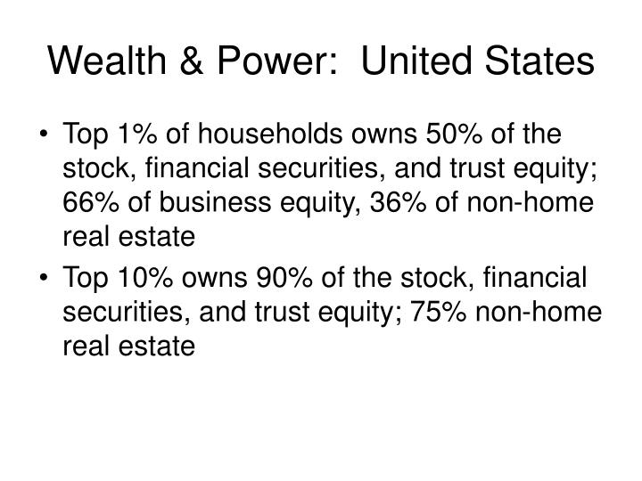 Wealth & Power:  United States