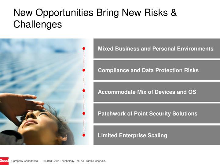 New Opportunities Bring New Risks & Challenges