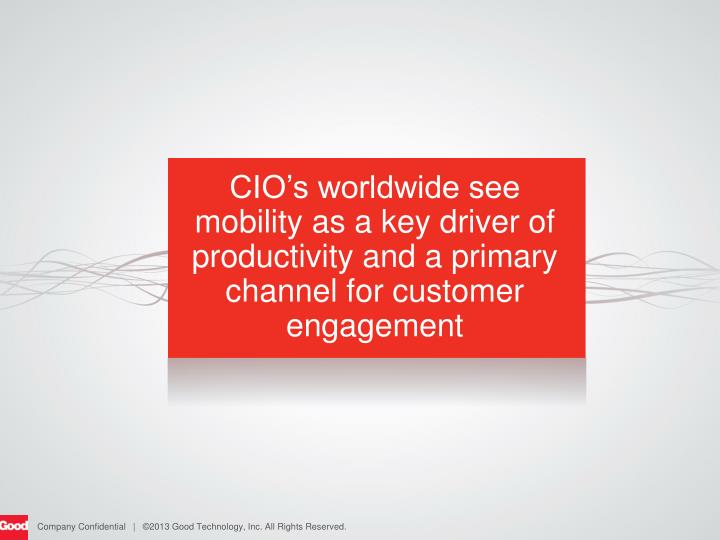 CIO's worldwide see mobility as a key