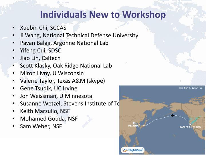 Individuals New to Workshop