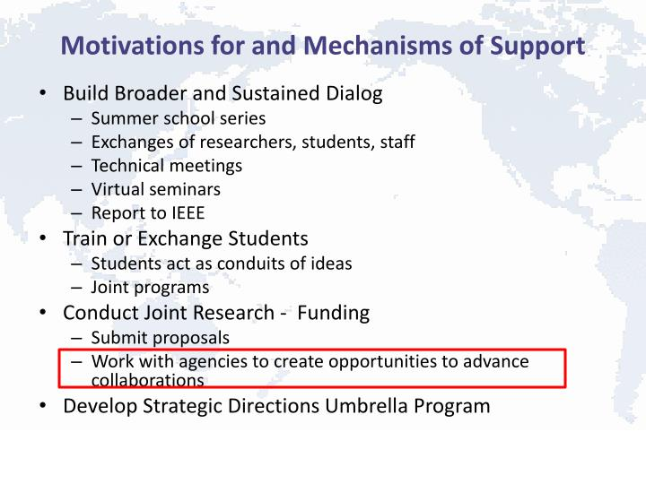 Motivations for and Mechanisms