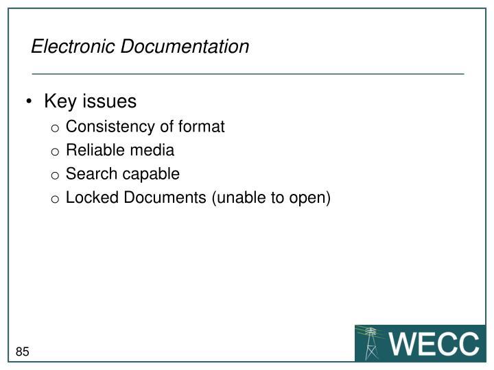 Electronic Documentation