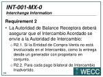 int 001 mx 0 interchange information4