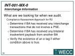 int 001 mx 0 interchange information8