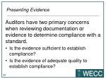 presenting evidence