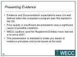 presenting evidence1