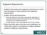 subjective requirements1